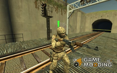 Ferrari Black's Usmc Marpat Gsg-9 for Counter-Strike Source