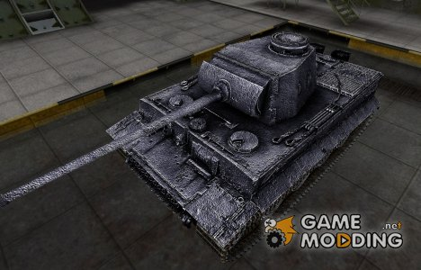 Темный скин для PzKpfw VI Tiger for World of Tanks