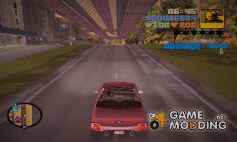 Индикатор здоровья машины for GTA 3