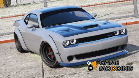 Dodge Challenger Hellcat Libertywalk - The Fate of the Furious Edition for GTA 5