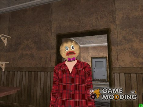 Парень в маске пряника для GTA San Andreas