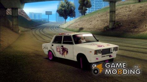 ВАЗ 2107 - No Game, No Life Itasha for GTA San Andreas