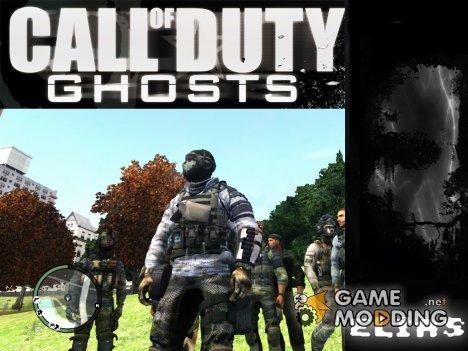 COD Ghost Elias skin для GTA 4