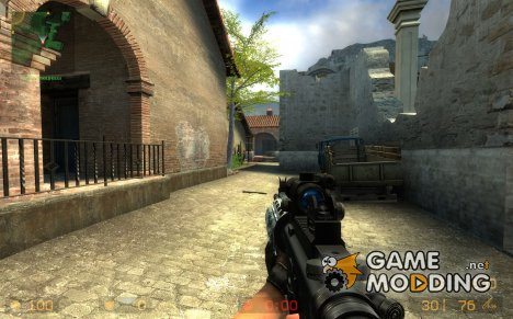 Darkness Device Blue Camo M4a1 для Counter-Strike Source