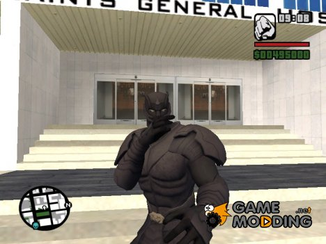 Black Panther Vibranium Armor for GTA San Andreas