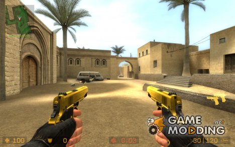 castor troy's gold 1911 для Counter-Strike Source