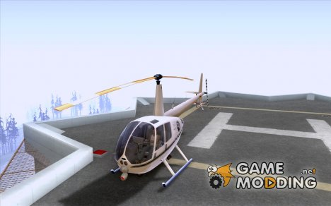Robinson R44 Raven II NC 1.0 Белый для GTA San Andreas