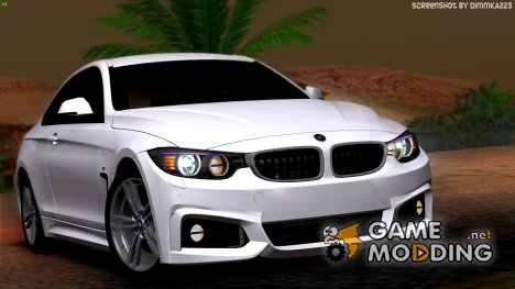 BMW 4 Series Coupe M Sport 2014 для GTA San Andreas