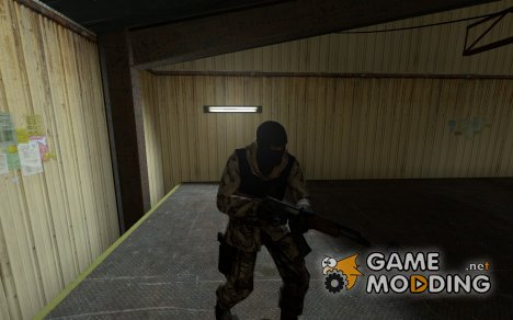 Brown Camo Arctic + heavy armor for Counter-Strike Source