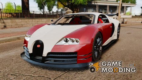 Bugatti Veyron 16.4 Body Kit Final Stock для GTA 4