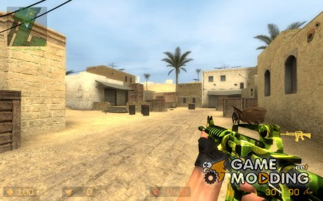 5 in 1 m4a1 camo skin for Counter-Strike Source