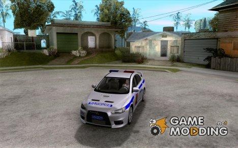 Mitsubishi Lancer Evolution X ППС Полиция for GTA San Andreas