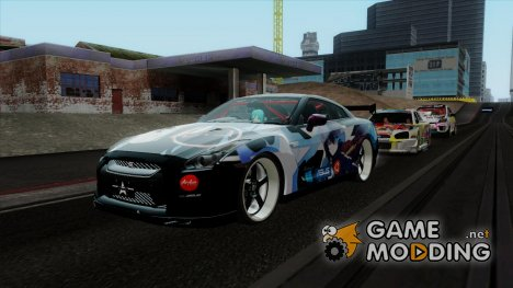 Nissan GT-R R35 Black Rock Shooter Itasha для GTA San Andreas