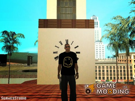 T-shirt in the style of Nirvana for GTA San Andreas