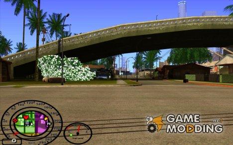 Спидометр с датчиком топлива for GTA San Andreas