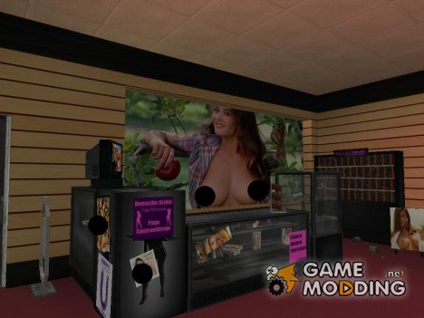 New textures of sex shop for GTA San Andreas