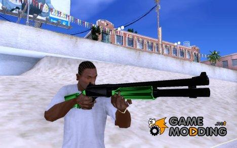 Зеленый дробовик для GTA San Andreas