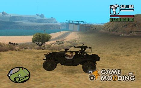Warthog из Halo for GTA San Andreas