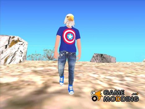 Skin HD GTA V Online в маске Орла для GTA San Andreas