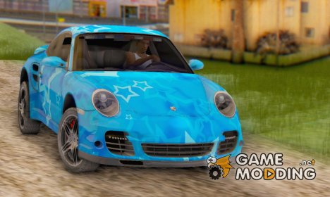 Porsche 911 Turbo Blue Star for GTA San Andreas