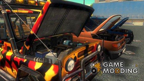 Пак машин УАЗ for GTA 3