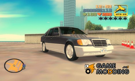 Mercedes-Benz 400SE W140 1991 for GTA 3