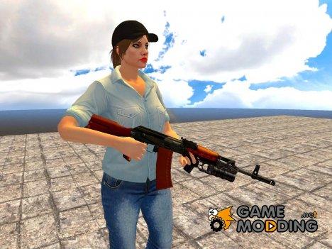 AK-74 GP-25 для GTA San Andreas