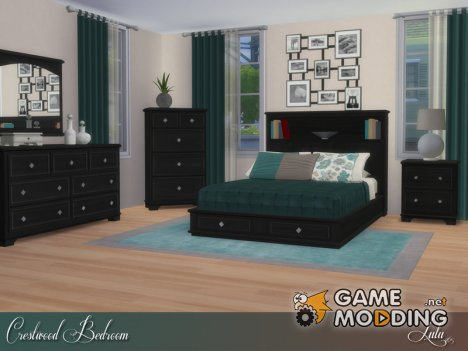 Crestwood Bedroom for Sims 4