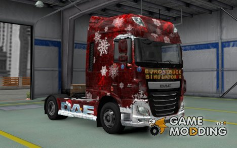 Скин Winter для DAF XF Euro 6 for Euro Truck Simulator 2