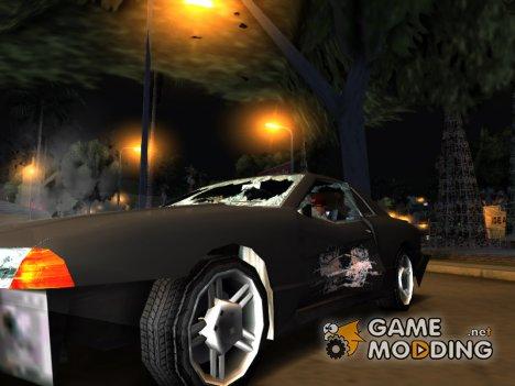 Реалистичные текстуры повреждения машин для GTA San Andreas