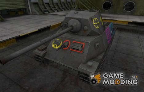 Качественные зоны пробития для T-25 for World of Tanks