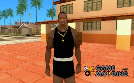 Майка REEBOK + золотой крест for GTA San Andreas