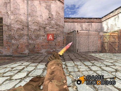 Штык нож М9 Fade для Counter-Strike 1.6