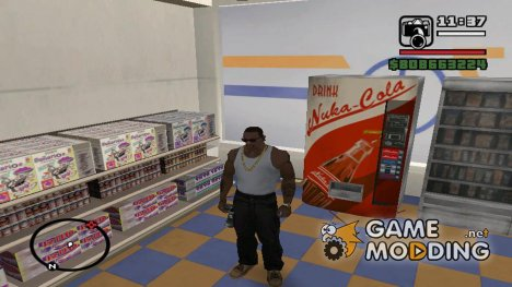 Nuka Cola Bottles - Machine Mod from FallOut для GTA San Andreas