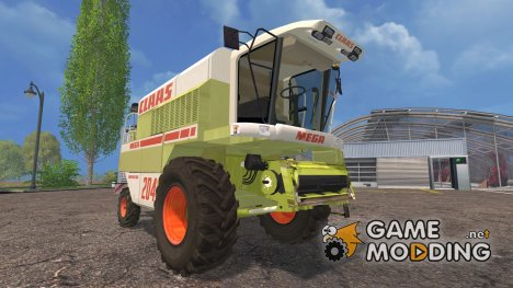 Class Mega 204 для Farming Simulator 2015