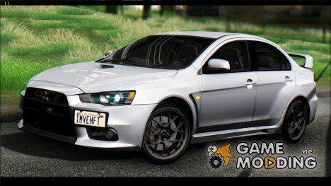 2015 Mitsubishi Lancer Evolution X Final Edition для GTA San Andreas
