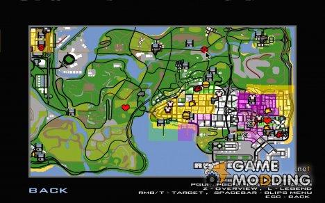 GPS навигатор с голосом for GTA San Andreas