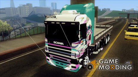 Scania 124G R400 - Miku Hatsune Itasha for GTA San Andreas