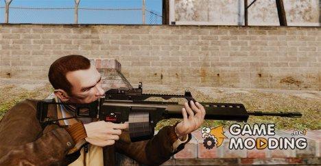 Штурмовая винтовка H&K MG36 v4 for GTA 4