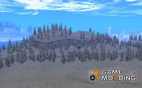 Зимняя трасса для GTA San Andreas