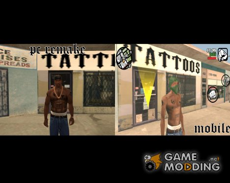 Mobile Tatoo for PC для GTA San Andreas