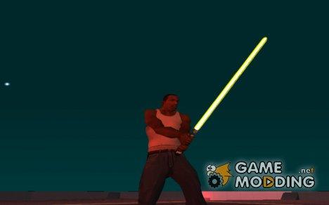 Жёлтый световой меч v2 for GTA San Andreas