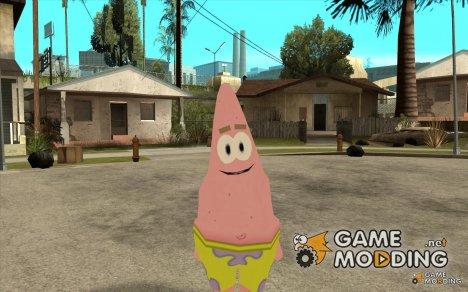 Замена скинов из популярного мультисериала Sponge Bob для GTA San Andreas