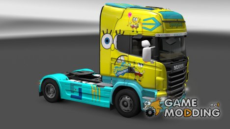 "Скин ""Spongebob"" Scania R for Euro Truck Simulator 2"