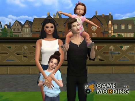 Family Photo Posepack для Sims 4