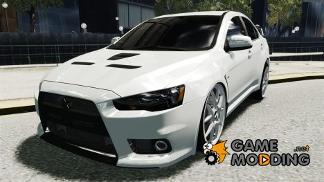 Mitsubishi Evolution X 2009 v2.0 для GTA 4