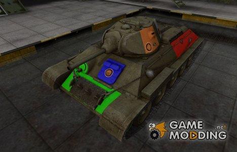 Качественный скин для T-34 для World of Tanks