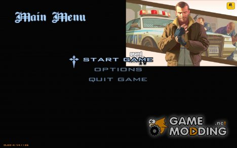 Меню как в GTA IV for GTA San Andreas