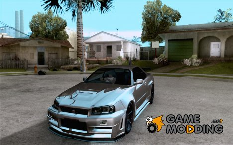 Nissan Skyline GT-R R34 from FnF 4 for GTA San Andreas