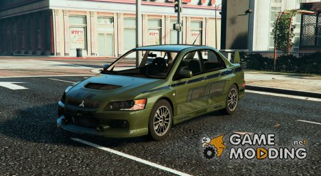 Mitsubishi Lancer (2 Fast 2 Furious) for GTA 5